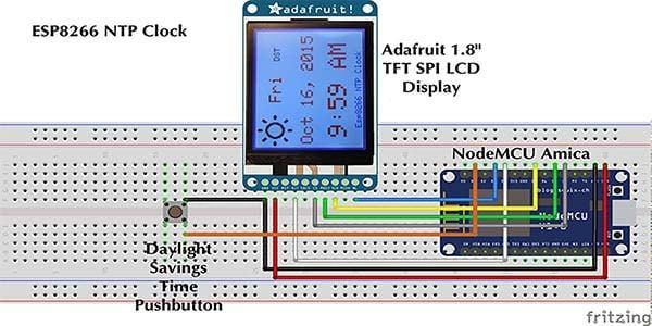 ESP8266 NTP Clock